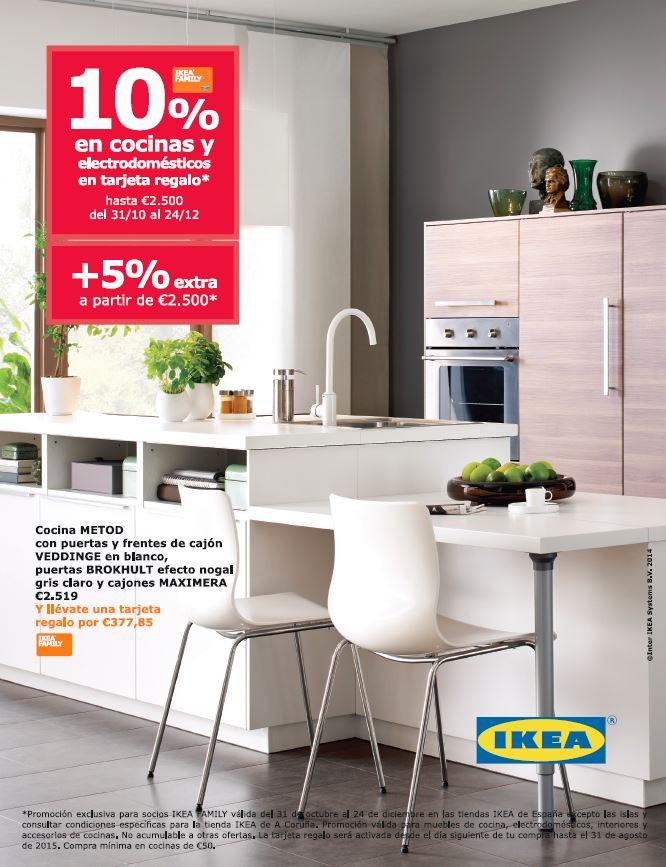 Oferta de IKEA, 10% de cocinas y electrodomésticos
